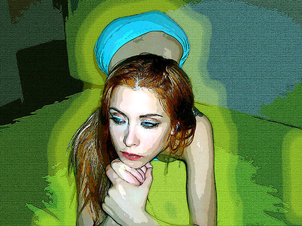 Women Art Print featuring the photograph Thinking by Francisco Colon