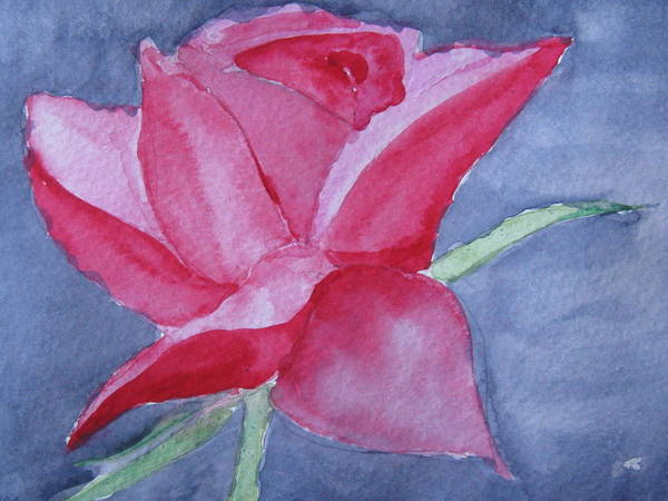 Rose Art Print featuring the painting Thorn Free by Trilby Cole