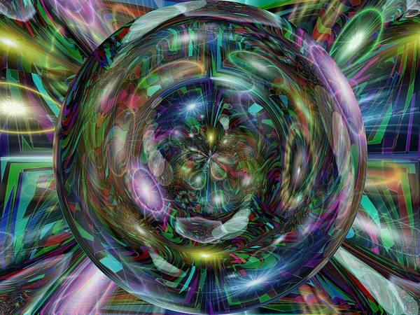 Abstract Art Print featuring the digital art Through The Looking Glass by Tim Allen