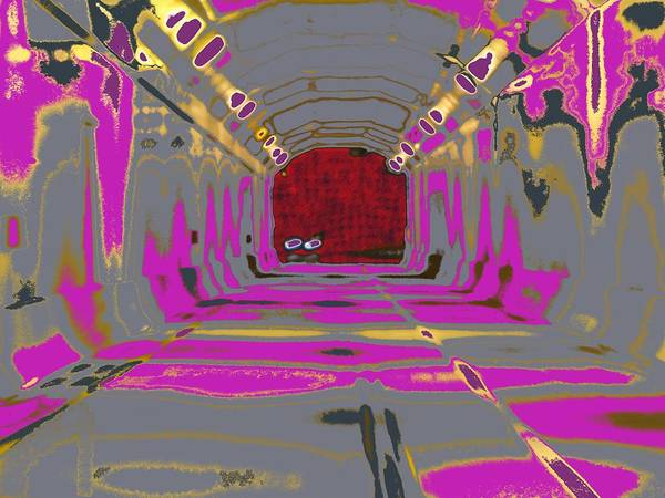 Abstract Art Print featuring the digital art Thru The Tunnel by Danny Donahue