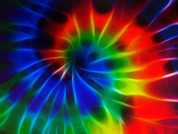 Tie Dye Art Print featuring the digital art Tie Dye by Lynne Jenkins