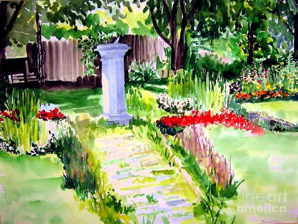 Park Art Print featuring the painting Time In A Garden by Sandy Ryan