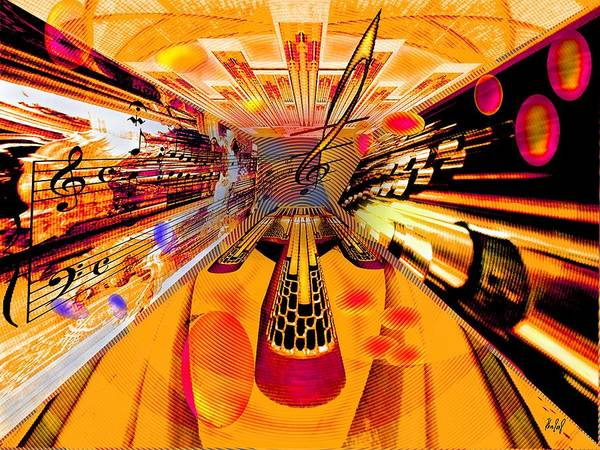 Toccata Art Print featuring the digital art Toccata- Masters View by Helmut Rottler