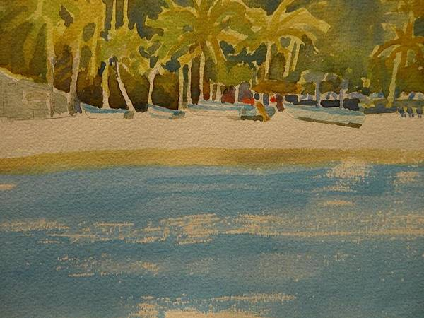 Walt Maes Art Print featuring the painting Tortuga Island Costa Rica by Walt Maes