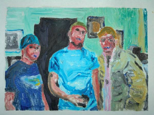 Kids Art Print featuring the painting tough Kids by John Toxey