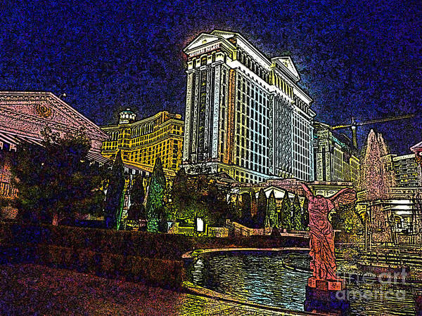 Caesars Palace Art Print featuring the photograph Towering Caesars by David Bearden