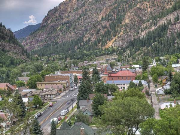 Ouray Art Print featuring the photograph Town Of Ouray by Linda Weyers