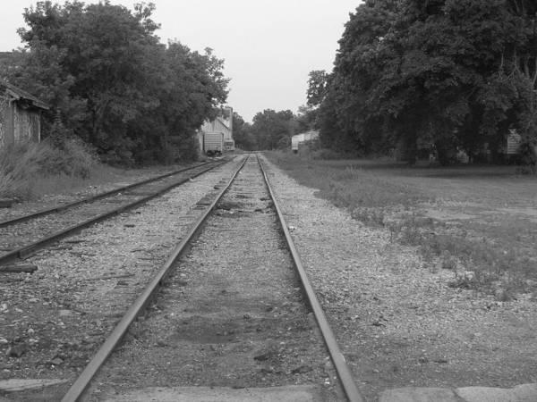Train Art Print featuring the photograph Train To Nowhere by Rhonda Barrett