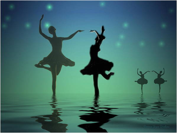 Ballerina Art Print featuring the photograph Tranquil Persuasion by Joyce Dickens