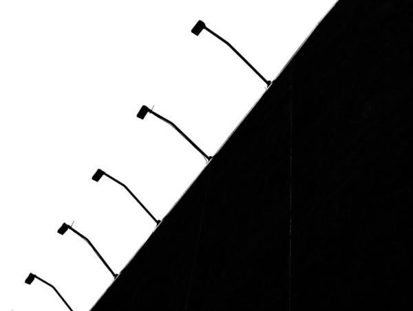 B&w Art Print featuring the photograph Trapezoids by Dario Boriani