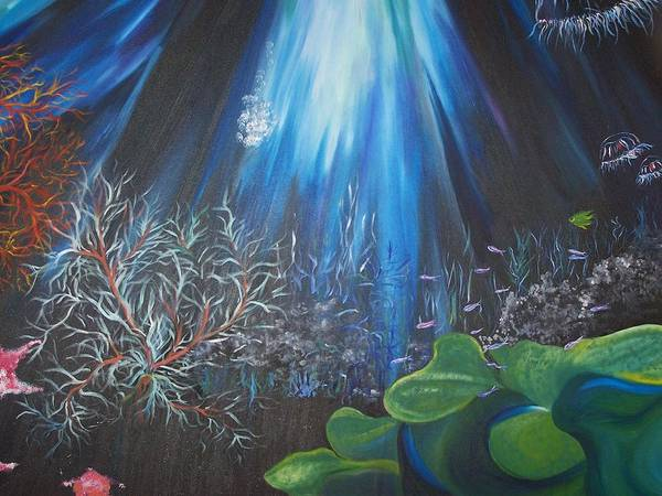 Underwater Art Print featuring the painting Treasure Of The Deep by Wendy Smith