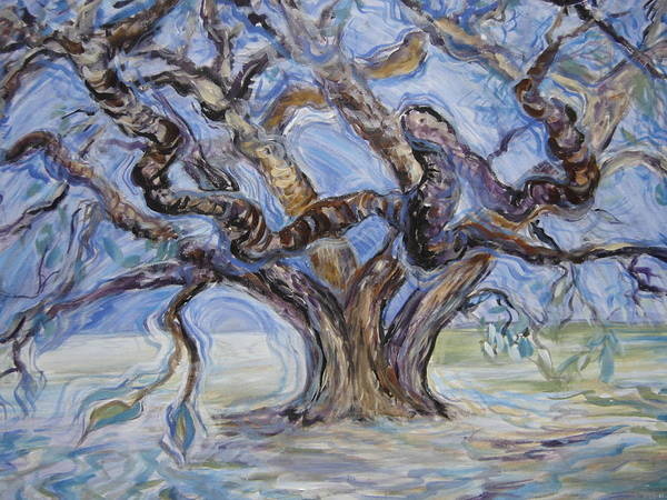 Landscape Art Print featuring the painting Tree Of Natural Music by Kasi Kennedy