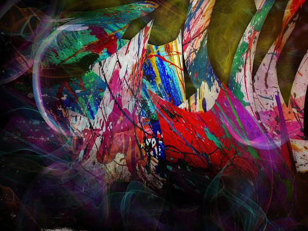 Abstract Art Print featuring the digital art Trees by Anastasiia Klymenko