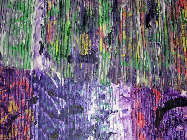 Abstract Art Print featuring the painting Tribute To Prince by Russell Simmons