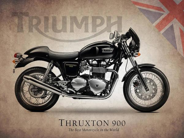 triumph thruxton 900 art print by mark rogan. Black Bedroom Furniture Sets. Home Design Ideas