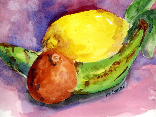 Fruit Art Print featuring the painting Tropical by Marilyn Barton