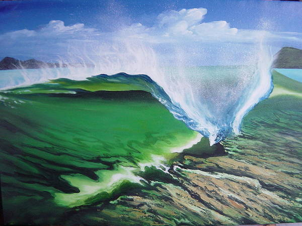 Surf Art Print featuring the painting Tropical Twist by Ronnie Jackson