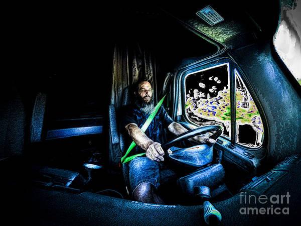 Art Art Print featuring the photograph Truck Driver by Scott Chimber