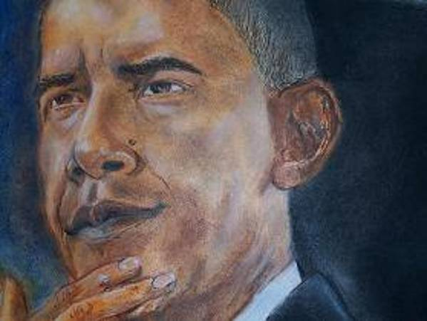 Barack Art Print featuring the painting Untitled by Darryl Hines