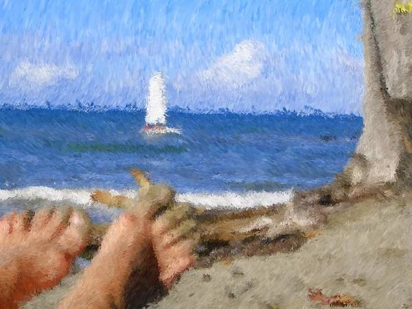 Art Print featuring the painting Vacation by Jonathan Galente