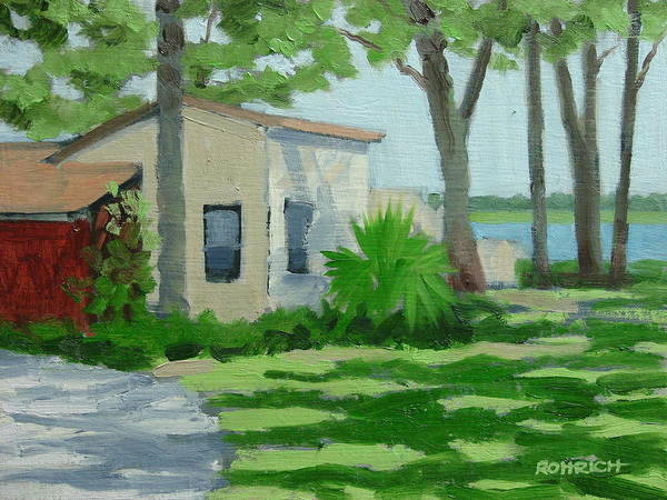 Landscape Art Print featuring the painting Vail Point Cottage by Robert Rohrich