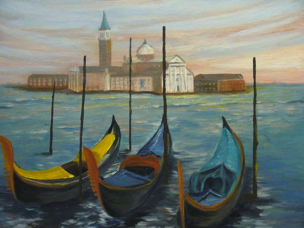Italy Art Print featuring the painting Venice by Joe Lanni