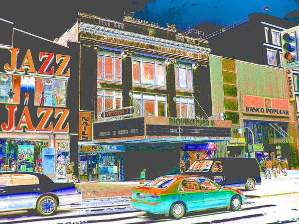 Harlem Art Print featuring the photograph Victoria Theater 125th St Nyc by Steven Huszar