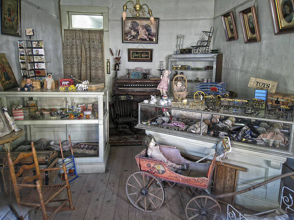 Victorian Print featuring the photograph Victorian Toy Shop - Virginia City Montana by Daniel Hagerman