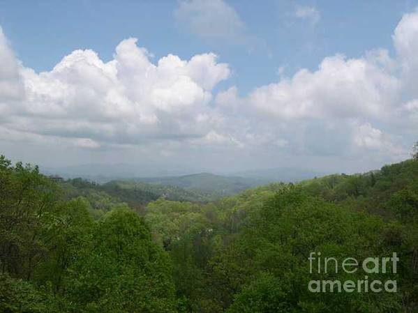 Mountains Art Print featuring the photograph View From Ober Gatlinburg by Barb Montanye Meseroll