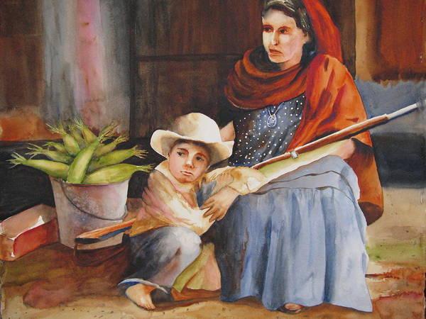Mother Art Print featuring the painting Vigil by Karen Stark