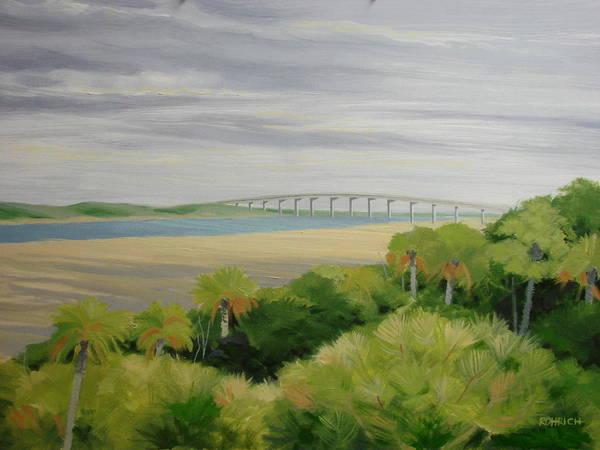 Landscape Art Print featuring the painting Vilano Bridge by Robert Rohrich