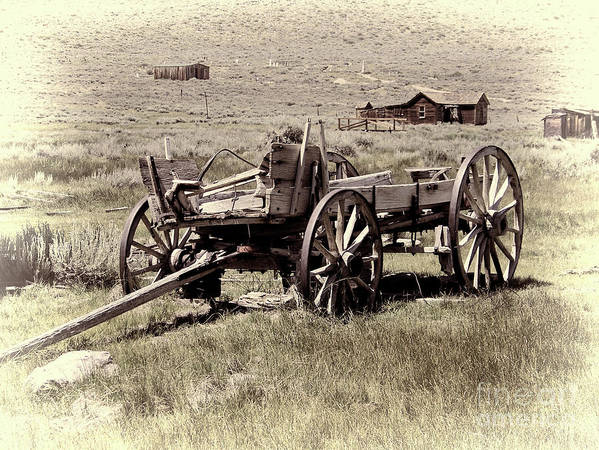 Bodie Ghost Town Art Print featuring the photograph Wagon Ghost Town by Chuck Kuhn