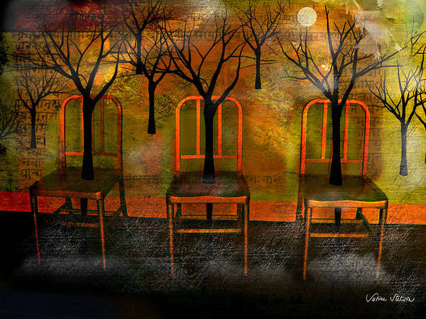 Moon Art Print featuring the digital art Waiting For A Miracle by Sabine Stetson