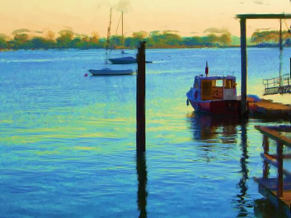 Art Print featuring the painting Waiting For You To Escape City Island Ny by Jonathan Galente
