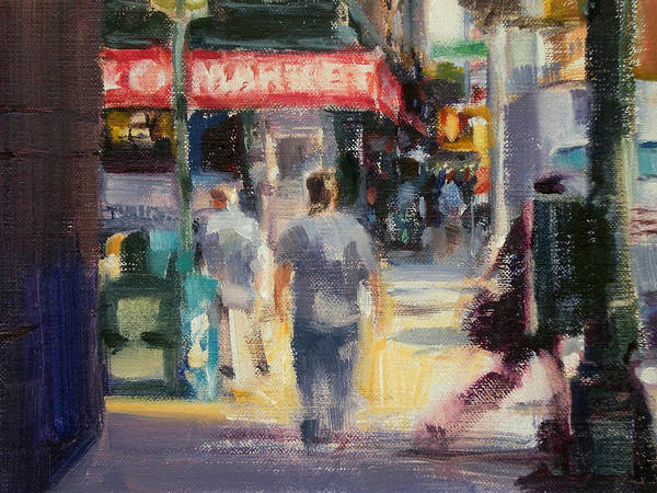 Cityscape Art Print featuring the painting Walking In The West Village by Merle Keller