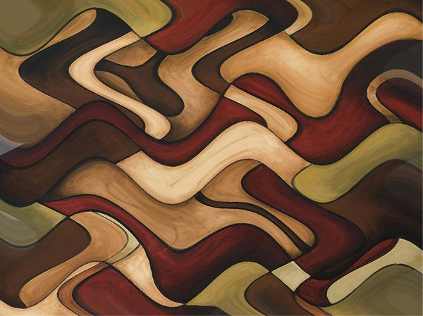Red Art Print featuring the painting Warm Earth by Vicky Brago-Mitchell