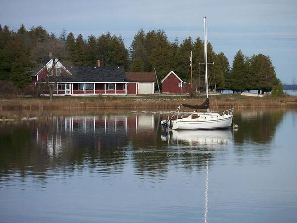 Washington Island Art Print featuring the photograph Washington Island Harbor 4 by Anita Burgermeister