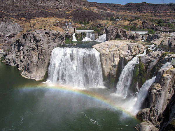 Waterfall Art Print featuring the photograph Waterfall Rainbow by Ty Nichols