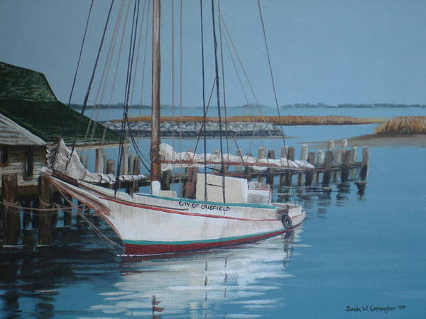 Skipjack Art Print featuring the painting Wenona by Sarah Grangier