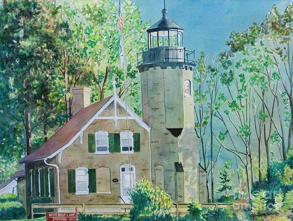 Michigan Art Print featuring the painting White River Light by LeAnne Sowa