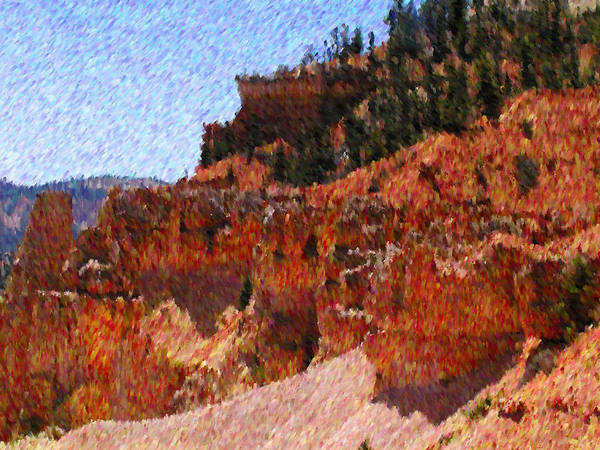 Utah Art Print featuring the mixed media Wild West by John-Marc Grob