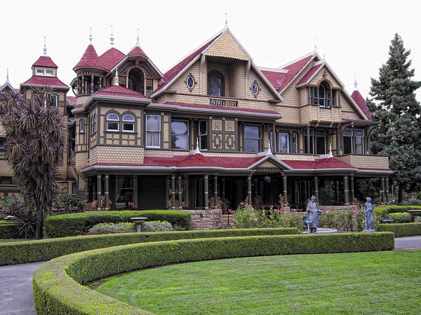 Winchester Art Print featuring the photograph Winchester Mystery House by Daniel Hagerman
