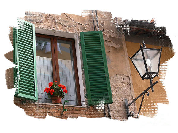 Window Art Print featuring the photograph Window Siena Italy by Jim Wright
