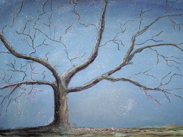 Tree Art Print featuring the painting Winter Tree by Sarah Rachel Evans