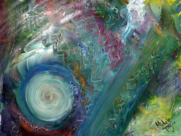 Oil Art Print featuring the painting Wondering Green Revisited by Michelle Teague