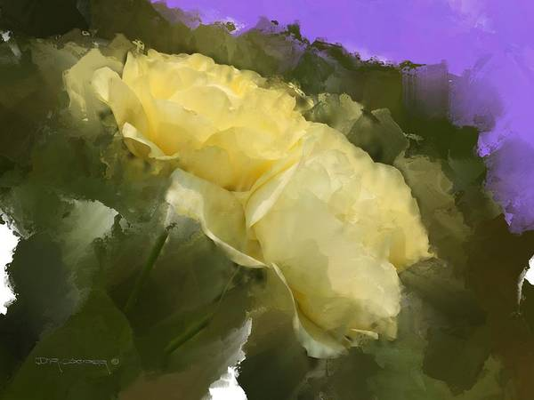 Yellow Roses Art Print featuring the painting Yellow Pitch by Dale Cooper