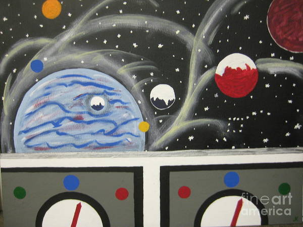 Outer Space Art Print featuring the painting Your The Pilot by Jeffrey Koss
