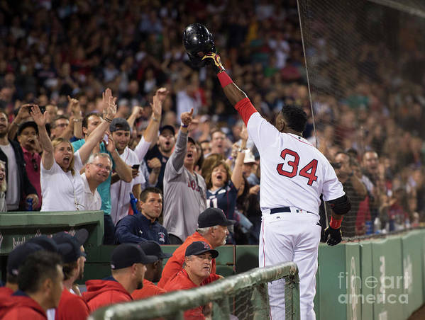 Crowd Art Print featuring the photograph Baltimore Orioles V Boston Red Sox 8 by Michael Ivins/boston Red Sox