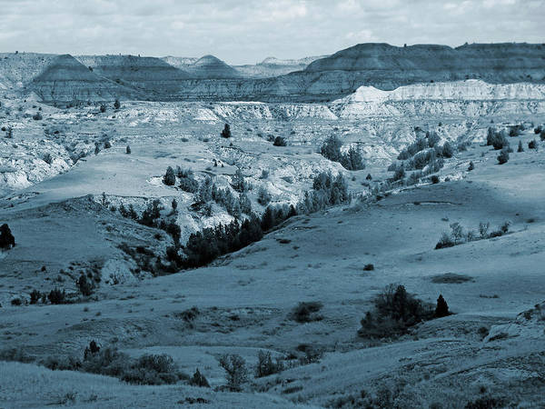 North Dakota Art Print featuring the photograph Badlands Shadows And Sunlight by Cris Fulton
