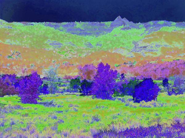 North Dakota Art Print featuring the photograph Blue Badlands Rhapsody by Cris Fulton